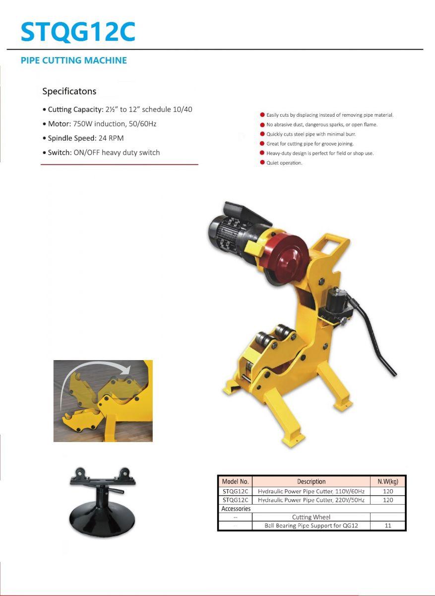 Máy cắt ống thủy lực STQG12C